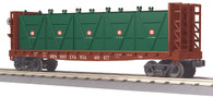 MTH Electric Trains O Scale RailKing  Flat Car - w/Bulkheads & LCL Containers Pennsylvania 30-76603