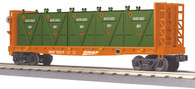 MTH Electric Trains O Scale RailKing  Flat Car - w/Bulkheads & LCL Containers BNSF 30-76604