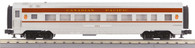 MTH Electric Trains O Scale RailKing 60' Streamlined Coach Car Canadian Pacific 30-67837