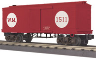 MTH Electric Trains O Scale RailKing 34' Box Car (19th Century) Western Maryland 30-74787