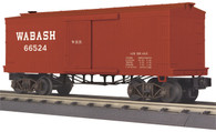 MTH Electric Trains O Scale RailKing 34' Box Car (19th Century) Wabash 30-74788
