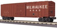 MTH Electric Trains O Scale RailKing 50' Modern Box Car Milwaukee Road 30-74812