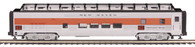 MTH Electric Trains O Scale Premier 70' Streamlined Full Length Vista Dome Passenger Car (Ribbed Sided) New Haven 20-67253