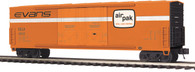 MTH Electric Trains O Scale Premier 50' Dbl. Door Plugged Boxcar Evans 20-93654
