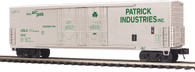 MTH Electric Trains O Scale Premier 50' Dbl. Door Plugged Boxcar Patrick Industries 20-93656