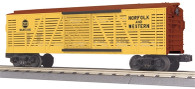 MTH Electric Trains RailKing O Gauge Model Trains Norfolk & Western Stock Car 30-7196
