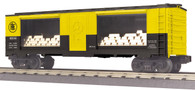 MTH Electric Trains RailKing O Gauge Model Trains Pittsburgh & Lake Erie 40' Window Mint Box Car With Gold 30-74764