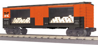 MTH Electric Trains RailKing O Gauge Model Trains New Haven 40' Window Mint Box Car With Gold 30-74765