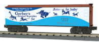 MTH Electric Trains RailKing O Gauge Model Trains Gerbers Strained Vegetables 40' Woodsided Reefer Car 30-78174