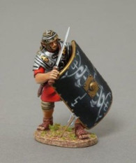 Thomas Gunn Soldiers ROM046B Blocking Legionnaire Black Shield Roman Empire 1/30