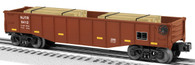 Lionel 6-26696 New Jersey Gondola with Wood Ties O Gauge