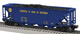 6-81435 Norfolk & Western NS Heritage quad hopper O Gauge