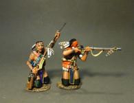 John Jenkins Designs CAN-04B Battle On the Monongahela Woodland Indians Kneeling, Firing And Loading B