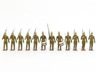 Mignot Toy Set Soldiers Prussian Light Infantry Vintage Set 12 Pieces