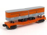 Lionel 6-52187 Madison Hardware Flat Car With Piggyback Vans O Gauge