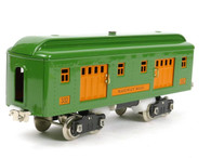 MTH Tinplate Traditions 300 Series Pea Green 3-Car Passenger Set 10-5072