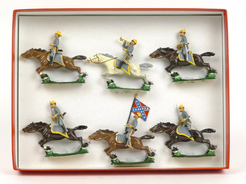 CBG Mignot Toy Soldiers 233 Confederate Cavalry