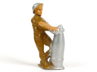 Manoil MAN-BOMB standing figure, loading shell and fusing bomb