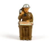 Manoil Toy Soldiers, MAN-MAP man seated with phone at map table