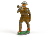 Manoil Toy Soldiers MAN-BUG2, Military musician, Bugler with hollow base