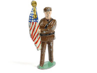 Manoil Toy Soldiers MAN-FLA, soldier holding American flag