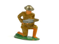 Manoil Toy Soldiers MAN-BOM, WWI Soldier holding bomb with tin hat