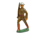 Manoil Toy Soldiers Soldier Marching with Rife and Flat Base