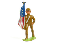 Manoil Toy Soldiers 45/45 Series Soldier Bearing American Flag