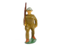 Manoil Toy Soldiers Standard Issue Figure with Rifle at the Slope