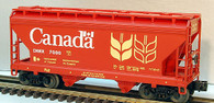 Lionel Model Trains Government Du Canada ACF 2-Bay Covered Hopper O Scale Railroad