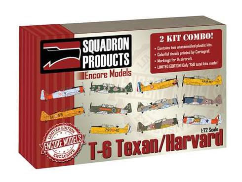 1/72 Encore T-6 Texan/Harvard '2 KIT COMBO' - EC72105