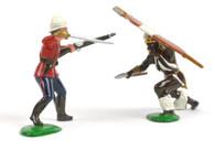 Trophy Miniatures HZ1A Zulu War Officer fighting Zulu Warrior Hand to Hand