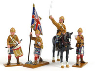 Trophy Miniatures HLS1 The Command Set Seaforth Highlanders Boer Wars