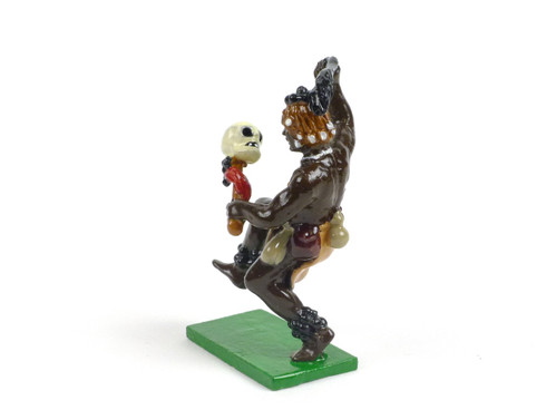 Trophy Miniatures Zulu Warrior with Knobkerrie and Skull Dancing