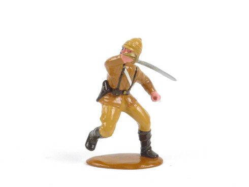 Trophy Miniatures British Officer with two Swords Engages in Battle