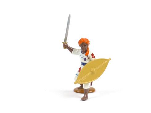 Trophy Miniatures Dervish Fighter Defends Against Attack