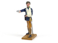 Trophy Miniatures DE3POR British Officer Wounded Firing Pistol
