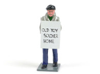 Trophy Miniatures Civilian with Placard 'OLD TOY SOLDIER HOME'