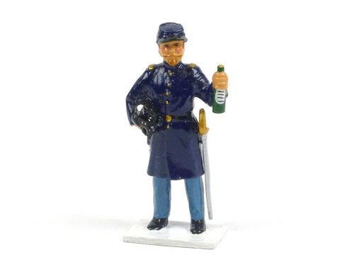 Trophy Miniatures Union Soldier Holding Bottle and Piglet