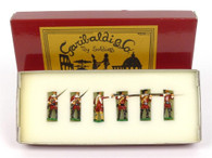 Garibaldi Toy Soldiers B6 43rd 3 Standing Firing 2 At The Ready With Officer