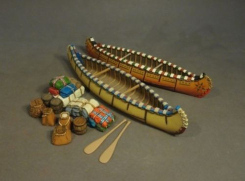 John Jenkins Designs Soldiers Small Canoes And Accessories Raid St Francis CAN-09