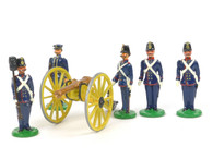 Garibaldi Toy Soldiers A11B Coastal Battery Gun Crew 1859