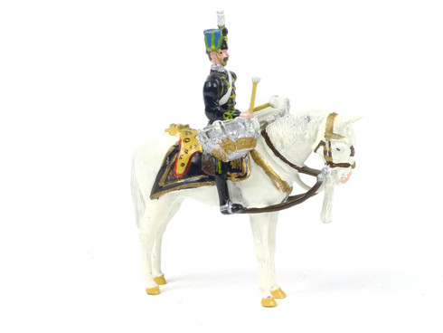 Ducal Traditional Military DH2 The Queen's Own Hussars Mounted Kettle Drummer