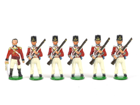 Garibaldi & Co Toy Soldiers Royal Malta on Guard with Officer Napoleon