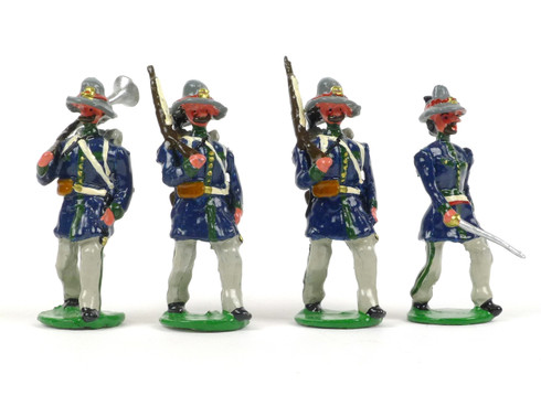 Garibaldi & Co Toy Soldiers L1.7A Italian Legionnaiers Marching with Officer 1869
