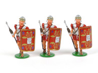 Garibaldi & Co Toy Soldiers RO2 Roman Legionnaires Advancing with Pilum 3 pc. set
