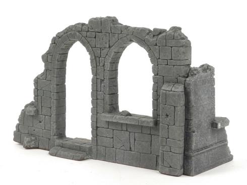 All Diorama Church corner in ruins, Central Europe ADC002