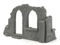All Diorama Church corner in ruins, Central Europe ADC002