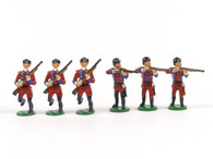Garibaldi & Co Toy Soldiers B17A 60th Royal Americans Privates Advancing Standing Firing