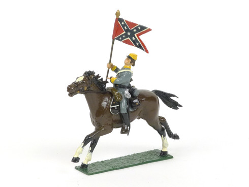 Fusilier Miniatures American Civil War Confederate Cavalry Flag Bearer Mounted